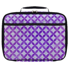 Circles3 White Marble & Purple Watercolor (r) Full Print Lunch Bag by trendistuff