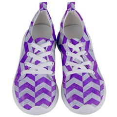 Chevron2 White Marble & Purple Watercolor Women s Lightweight Sports Shoes