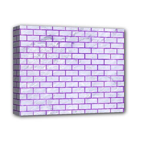 Brick1 White Marble & Purple Watercolor (r) Deluxe Canvas 14  X 11  by trendistuff