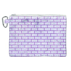 Brick1 White Marble & Purple Watercolor (r) Canvas Cosmetic Bag (xl) by trendistuff