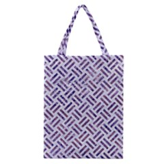 Woven2 White Marble & Purple Marble (r) Classic Tote Bag by trendistuff