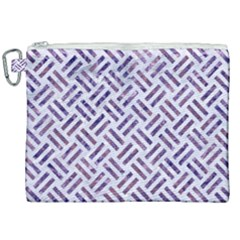 Woven2 White Marble & Purple Marble (r) Canvas Cosmetic Bag (xxl) by trendistuff