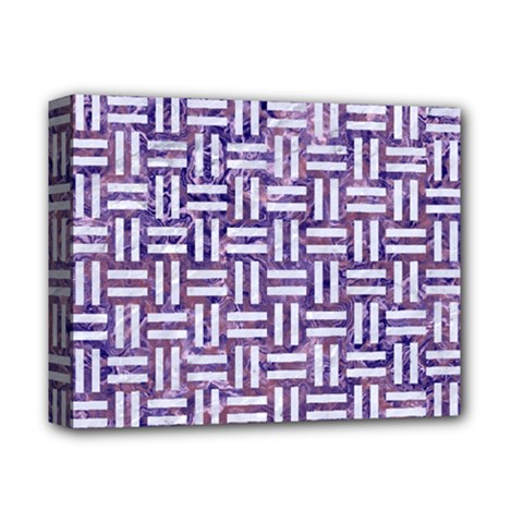 Woven1 White Marble & Purple Marble Deluxe Canvas 14  X 11  by trendistuff