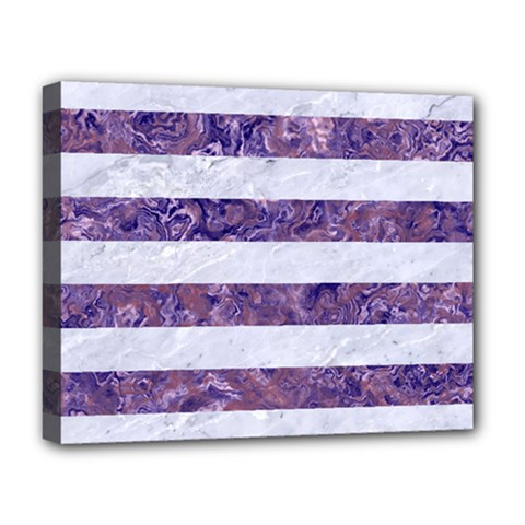 Stripes2white Marble & Purple Marble Deluxe Canvas 20  X 16   by trendistuff