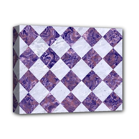 Square2 White Marble & Purple Marble Deluxe Canvas 14  X 11  by trendistuff