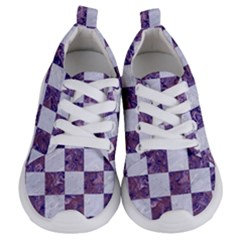 Square1 White Marble & Purple Marble Kids  Lightweight Sports Shoes