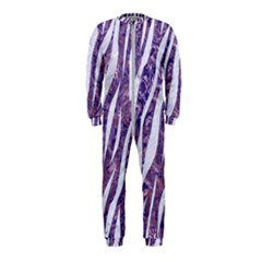 Skin3 White Marble & Purple Marble Onepiece Jumpsuit (kids)