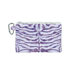 Skin2 White Marble & Purple Marble (r) Canvas Cosmetic Bag (small) by trendistuff