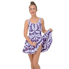 Skin2 White Marble & Purple Marble (r) Inside Out Dress