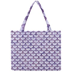 Scales3 White Marble & Purple Marble (r) Mini Tote Bag by trendistuff