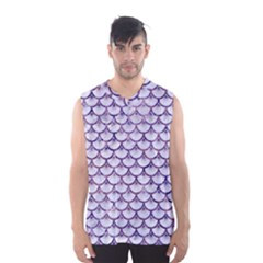 Scales3 White Marble & Purple Marble (r) Men s Basketball Tank Top by trendistuff