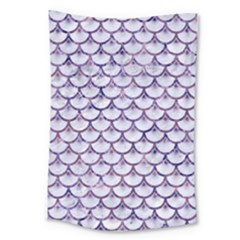 Scales3 White Marble & Purple Marble (r) Large Tapestry by trendistuff