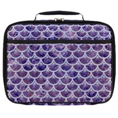 Scales3 White Marble & Purple Marble Full Print Lunch Bag by trendistuff