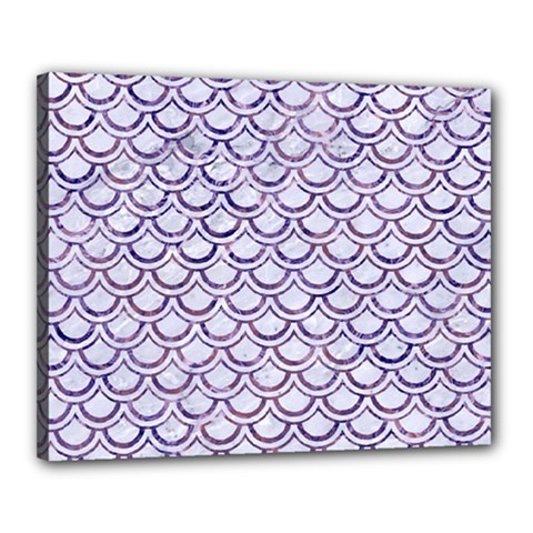 Scales2 White Marble & Purple Marble (r) Canvas 20  X 16  by trendistuff
