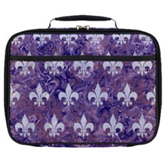 Royal1 White Marble & Purple Marble (r) Full Print Lunch Bag by trendistuff