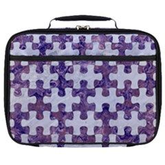 Puzzle1 White Marble & Purple Marble Full Print Lunch Bag by trendistuff