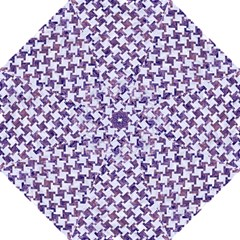 Houndstooth2 White Marble & Purple Marble Hook Handle Umbrellas (large) by trendistuff