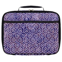 Hexagon1 White Marble & Purple Marble Full Print Lunch Bag by trendistuff
