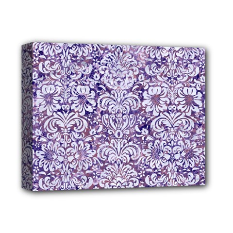 Damask2 White Marble & Purple Marble Deluxe Canvas 14  X 11  by trendistuff