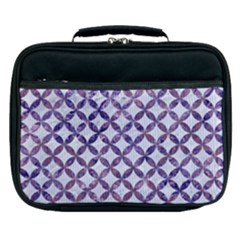Circles3 White Marble & Purple Marble (r) Lunch Bag by trendistuff