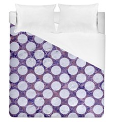 Circles2 White Marble & Purple Marble Duvet Cover (queen Size) by trendistuff