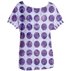 Circles1 White Marble & Purple Marble (r) Women s Oversized Tee by trendistuff