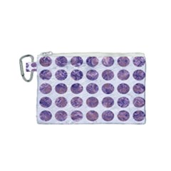 Circles1 White Marble & Purple Marble (r) Canvas Cosmetic Bag (small) by trendistuff