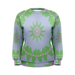 Lilac Purple Green Pink Yellow Blue 59 Women s Sweatshirt