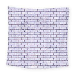 Brick1 White Marble & Purple Marble (r) Square Tapestry (large) by trendistuff