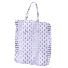 Brick1 White Marble & Purple Marble (r) Giant Grocery Zipper Tote by trendistuff