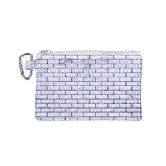 Brick1 White Marble & Purple Marble (r) Canvas Cosmetic Bag (small) by trendistuff