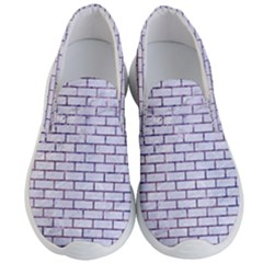 Brick1 White Marble & Purple Marble (r) Men s Lightweight Slip Ons