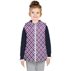 Woven2 White Marble & Purple Leather Kid s Hooded Puffer Vest