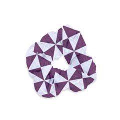 Triangle1 White Marble & Purple Leather Velvet Scrunchie by trendistuff