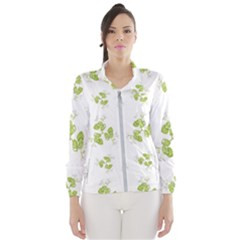 Photographic Floral Decorative Pattern Wind Breaker (women)