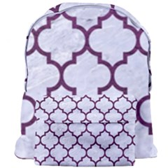 Tile1 White Marble & Purple Leather (r) Giant Full Print Backpack