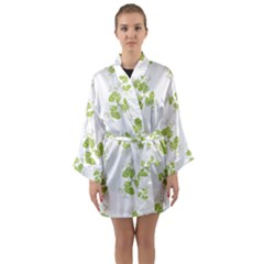 Photographic Floral Decorative Pattern Long Sleeve Kimono Robe by dflcprints