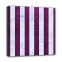 STRIPES1 WHITE MARBLE & PURPLE LEATHER Multi Function Bag	 View1