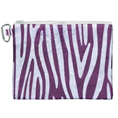 Skin4 White Marble & Purple Leather (r) Canvas Cosmetic Bag (xxl) by trendistuff