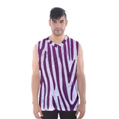 Skin4 White Marble & Purple Leather Men s Basketball Tank Top by trendistuff