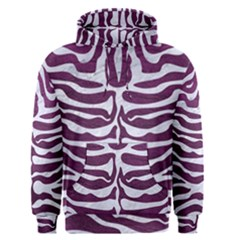Skin2 White Marble & Purple Leather Men s Pullover Hoodie