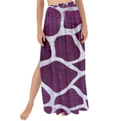 Skin1 White Marble & Purple Leather (r) Maxi Chiffon Tie Up Sarong