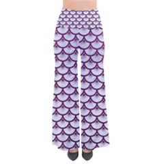 Scales3 White Marble & Purple Leather (r)scales3 White Marble & Purple Leather (r) So Vintage Palazzo Pants by trendistuff