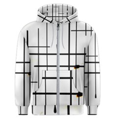 White Limits By Jandi Men s Zipper Hoodie