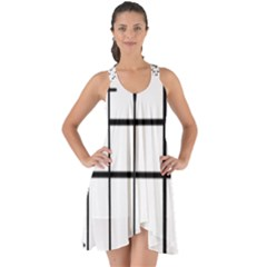 White Limits By Jandi Show Some Back Chiffon Dress