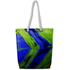 Point Of Equilibrium 7 Full Print Rope Handle Tote (small) by bestdesignintheworld