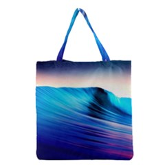 Rolling Waves Grocery Tote Bag