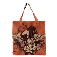 Rock Music Moves Me Grocery Tote Bag by Sapixe
