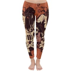 Rock Music Moves Me Classic Winter Leggings by Sapixe