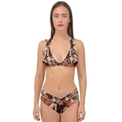 Rock Music Moves Me Double Strap Halter Bikini Set by Sapixe